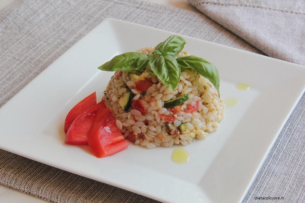 dietacolcuore_riso aproteico con pesto mediterraneo