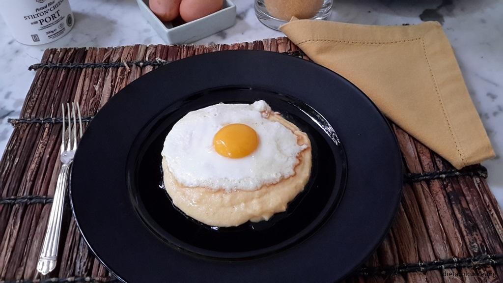 dietacolcuore_polenta con uova al tegamino